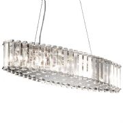 Crystal Syke Island Chandelier in Polished Chrome and Crystal IP44 - KICHLER KL/CRSTSKYE/ISLE